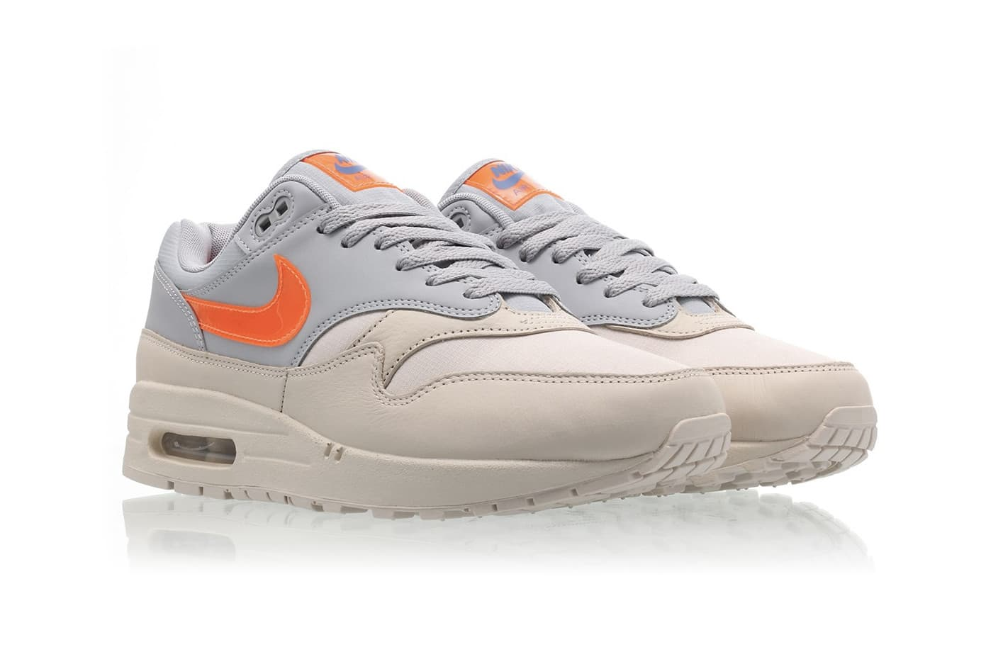 Nike Air Max 1: grey and orange for a hot summer   Acrimonia